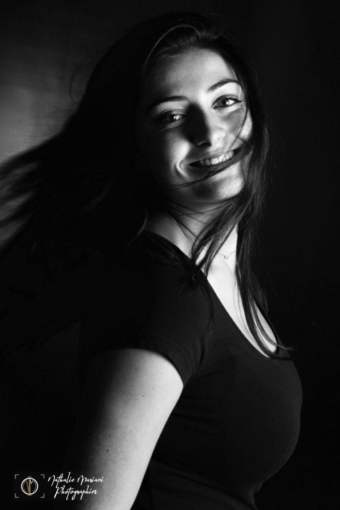 Portrait femme mouvement